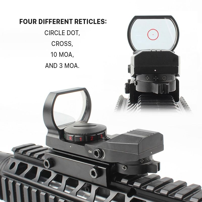 Riflescope Optics_0006_ four different reticles_ Circle Dot, Cross, 10 MOA, and 3 MOA..jpg
